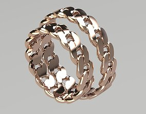 3D print model Cuban Chain Ring couple