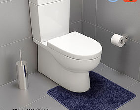Centro Wall Faced Toilet 3D