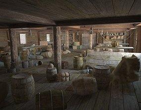 3D model Wardroom pirate ship