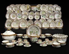 Porcelain table service 3D