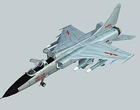 3D asset China PLA Air Force JH-7