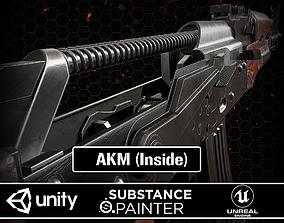 AKM Rifle Inside 3D asset