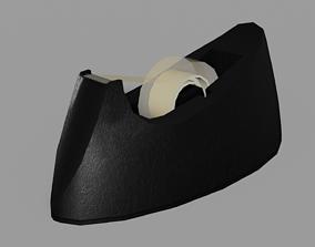 Tape Dispenser Low Poly 3D Model engine realtime