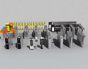 Collection of Automatic gates 3D model