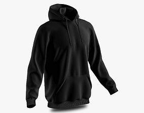 3D model men hoodie 02