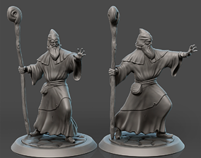 3D printable model Wizard miniature board game