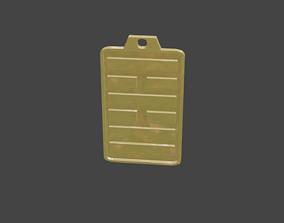 rgd kui hexagram pendant 3D print model