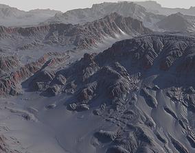 map Alien planet terrain - 8k 3D model