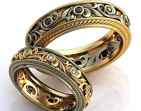 Gold Metal Rings 3D print model 3dprintmodel
