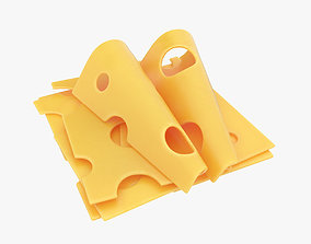 Cheese slices 3D model