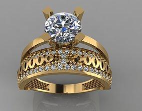 GC GOLD TW0134- Diamond ring 3D printable model