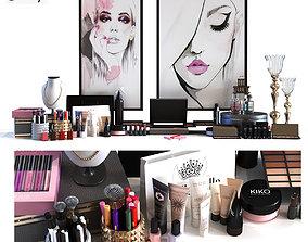 Cosmetics set 017 lowpoly 3D asset