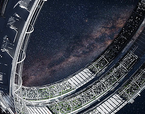 Futuristic Space Colony C 3D model