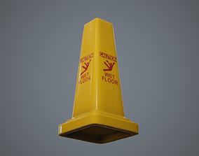 3D model Triangular Wet Floor Sign