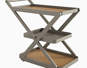 3D Urban Retreat Outdoor Serving Cart