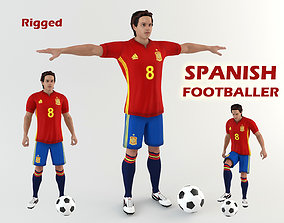 3D Spanish footballer