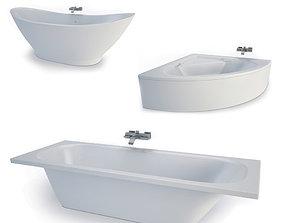 3D model Bathtubs collection