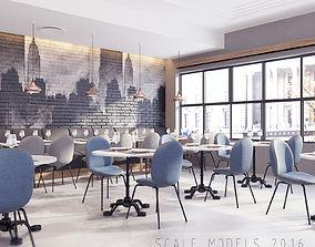 3D model Contemporary Restaurant 022