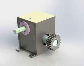 Worm Gear Box 3D model