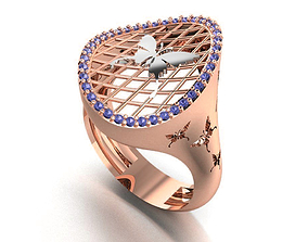 Women butterfly ring 3dm render detail 3D print 1