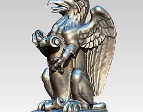 3D printable model griffin griffon gryphon Statue