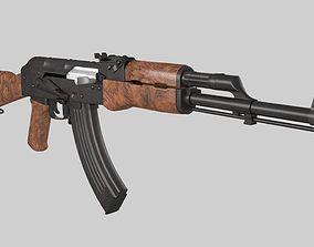 low-poly PBR AK47 MODEL