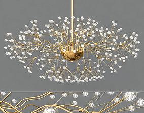 3D model Modern Silver Glass Chandelier