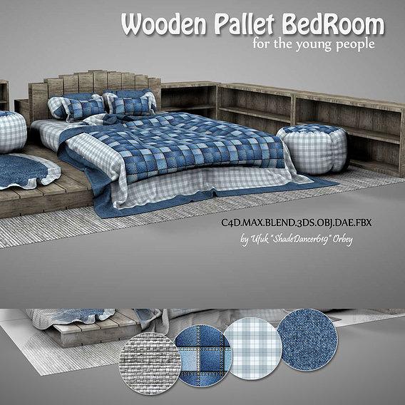 Wooden Pallet Bedroom