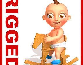 3D model Baby Jake Cartoon Rigged