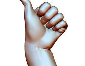 3D print model Thumb up hand sign gesture male bended
