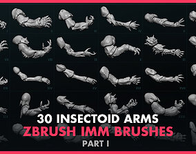 Alien Insectoid Arms - 30 IMM Brush - Part I 3D model