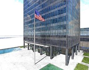 sky 3D The Seagram Building New York City