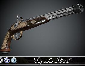 Classic Capsular Pistol - model and textures 3D asset