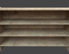 Bookshelf 3D model game-ready PBR