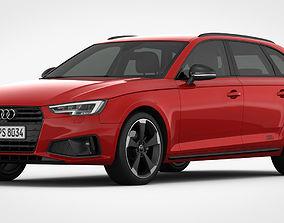 3D model Audi A4 Avant 2019 Detailed Interior