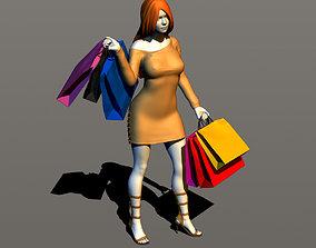 3D print model Pretty girl shopping
