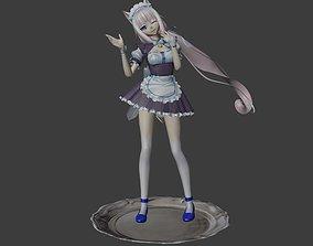 Vanilla - Nekopara - 3d Prinable Model woman