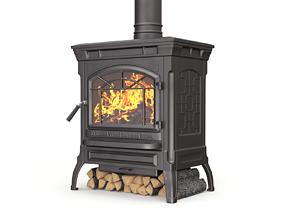 Wood Burning Stove 3D