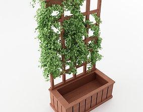 Trellis Planter 3D pot-plant