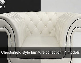 3D lounge Chesterfield style furniture collection