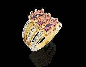 3D printable model Shiny Ring Baguete Jewelery
