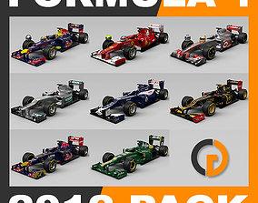 3D model F1 2012 Cars and Helmets