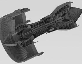 3D model Airplane Engine