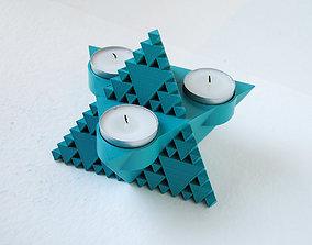 3D print model Inverse Sierpinski Tetrahedron 3 Tealights
