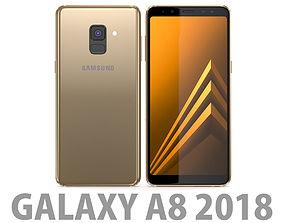 3D model Samsung Galaxy A8 2018 Gold