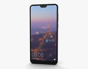 Huawei P20 Pro Midnight Blue 3D