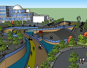 3D University campus landscape design