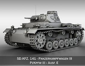 3D Panzer III - PzKpfw III - Ausf E