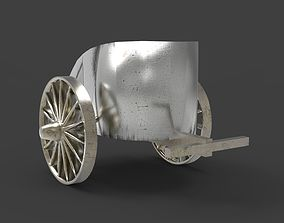 3D model low-poly Chariot