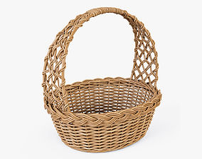3D Wicker Basket 09 Natural Color